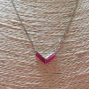 VGUC SILPADA Pink Quartzite Chevron Necklace 925